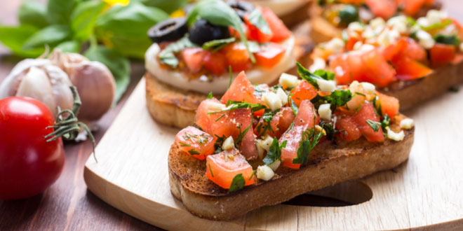 Italian tomato bruschetta, one of the most delicious foods in Florence